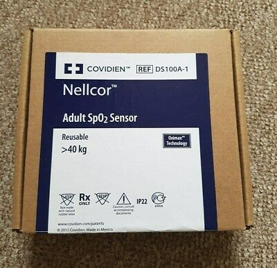 Nellcor DS-100A Genuine Oximax Adult finger sensor (New in Sealed box)