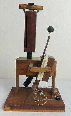 Antique Wood Block Musical Instrument Attachment from a Pipe Organ