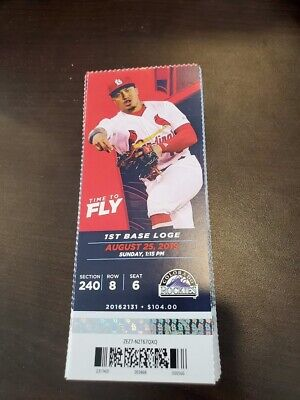 St. Louis Cardinals Colorado Rockies MINT Season Ticket 8/25/19 2019 MLB Stub