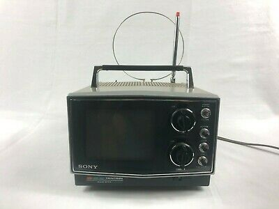 "Vtg Sony Tv 5"" Trinitron Portable Color Television Kv-5100 Tested"