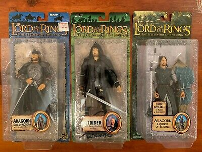 ARAGORN - STRIDER - KING OF GONDOR Lord of the Rings 3 Figures NEW on card LOTR