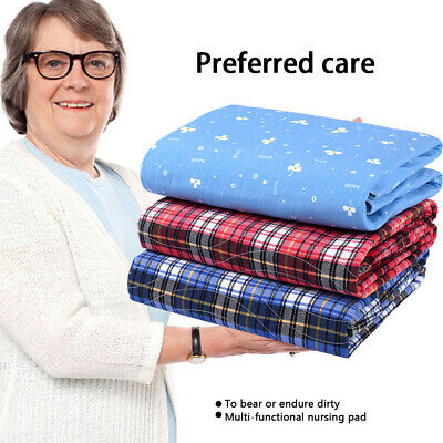 Washable Waterproof Underpads Bed Seat Reusable Pads Incontinence Hospital Grade
