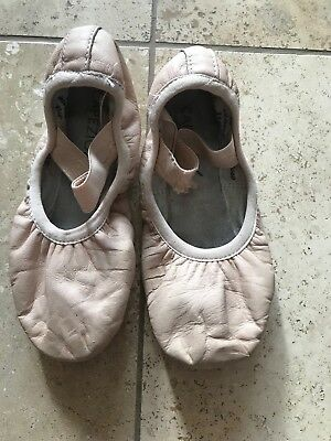 VGUC Capezio Toddler Girls Full Leathers Sole Ballet Pink Shoes Size 11M