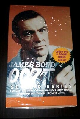 JAMES BOND 007 Second Series  sealed box new trading cards wax packs 1993