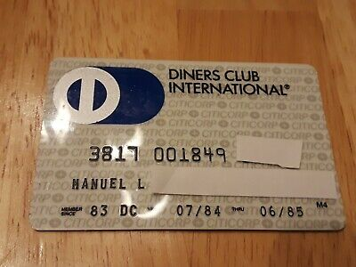 Diners Club International Expired Credit Card Signed 1983 expires 1985 charge