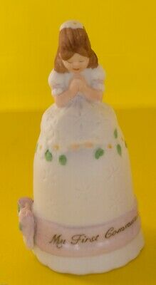"VTG ENESCO Porcelain Bisque Thimble ""My First Communion MADE IN KOREA 1987 MINT"