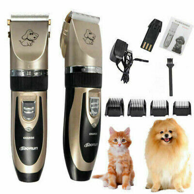 Electric Dog Clipper Grooming Comb Set Animal Cat Pet Hair Blade Cordless New