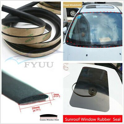 "Car 5M 0.79""*0.24""Windshield Sunroof Triangular Sealing Strip Sealed EPDM Rubber"