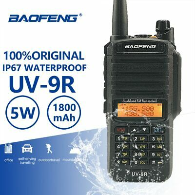 Baofeng UV-9R IP67 Waterproof Walkie Talkie Uhf Vhf Ham HF Portable Radio UV 9R