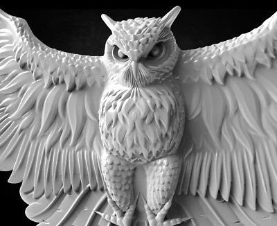 "3d stl Model for CNC Router Machine Artcam Vectric Aspire "" Owl """