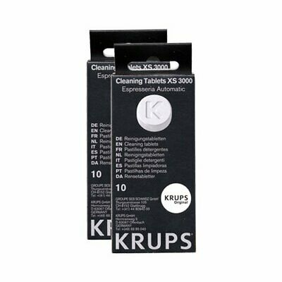 3 Packs Krups XS3000 Cleaning Tablets Pack of 10 Tablets (30 Tablets Total)