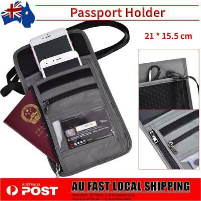 RFID Blocking Passport Cover Card Protector Wallet Security Travel Wallet Bag AU