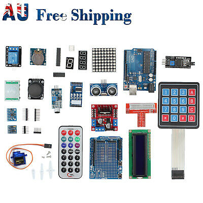 Professional Full Edition UNO Starter R3 Kit for Arduino LCD Compass Gyro DIY AU