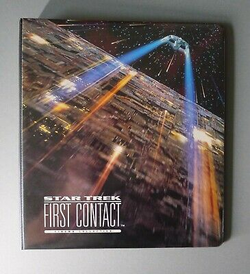 Star Trek First Contact Cinema Collection Trading Cards & Binder (1996)