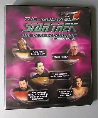 Star Trek The Quotable Next Generation Trading Cards & Binder (2005)