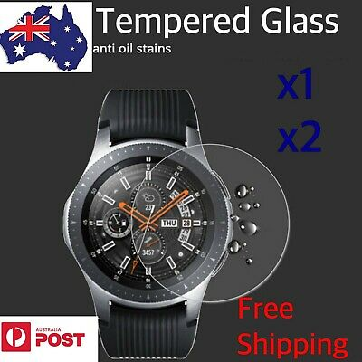 2x Samsung Watch Screen Protector 9H Anti-Scratch Tempered Glass 46mm/42mm