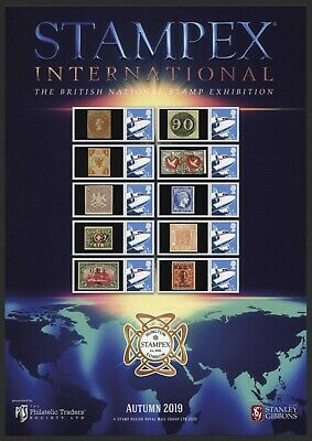 2019 Autumn Stampex Smiler Sheet Rare World Stamps Philatelic Traders Society