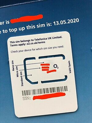 UK Travel Sim Card ** O2 Network ** Unused, Unactivated, Ready to Use