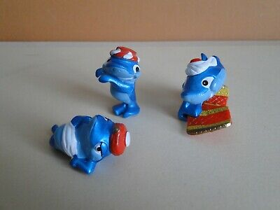"Lot de 3 anciennes figurines "" DAUPHINS   "" 1995 Kinder Ferrero"