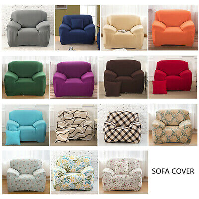 42 Colors! Universal 1/2/3/4 Seats Sofa Cover Elastic Couch Slipcover Home Decor