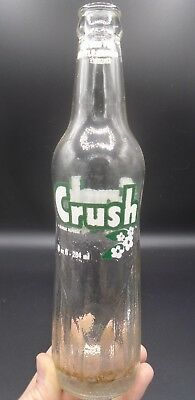 VINTAGE 1970's CRUSH (10 OZ.) EMBOSSED ACL SODA POP BOTTLE - TORONTO, ONT.