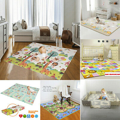 Baby PlayMat Large Tummy Time Folding Reversible Baby Mats For Portable Playroom