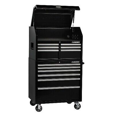 Husky Tool Cart >> New Husky 26 In W 4 Drawer Tool Chest Black 139 99