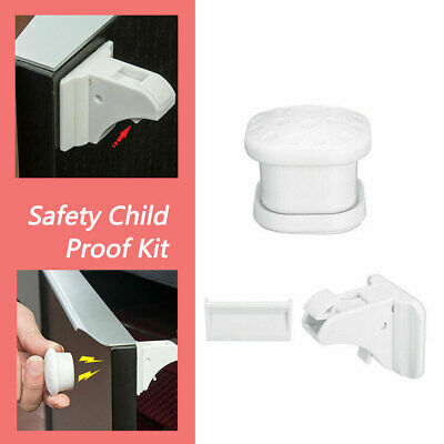 10-30Pcs Magnetic Drawer Cabinet Cupboard Locks Baby Child Kids Safety Proofing