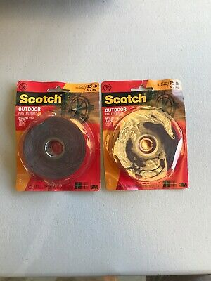 Scotch® Outdoor Mounting Tape 411-Med-DC-SF, 1 in x 175 in (4.86 yd) 2 Pack