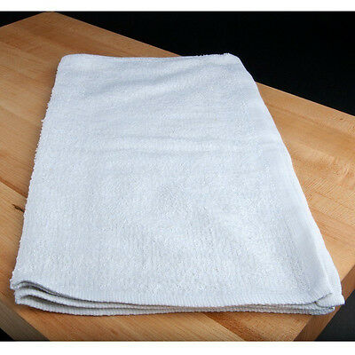 500 new 100% cotton white terry or rib restaurant bar mops kitchen towels 24oz