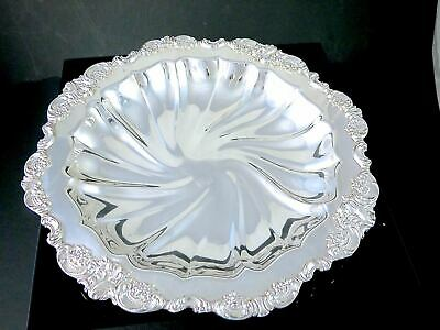 """Beautiful Vintage WALLACE BAROQUE Silverplate BUFFET SERVING DISH BOWL 12"""""""