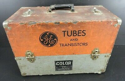 Vintage General Electric - Tubes and Transistors Repairman's Case / Tool Box