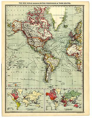 Map American Civil War 1861-1865 /& Russian /& British Expansion In ASIA 1801-1907