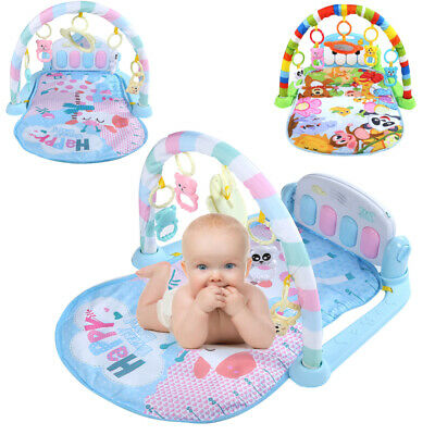 3 in 1 Baby Gym Floor Play Mat Musical Activity Center Kick And Play Piano Toy