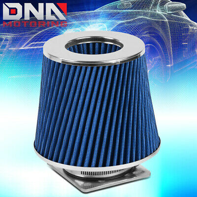 "R/&D UNIVERSAL CONE AIR INTAKE FILTER BLUE WASHABLE 3.5/"" INLET 89mm 7/"" tall"