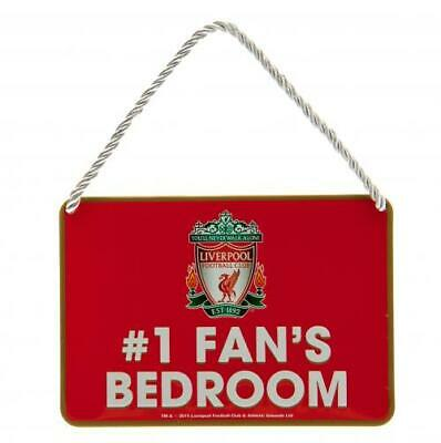 Liverpool FC Official Crested Metal Bedroom Sign No 1 Fan Present Gift