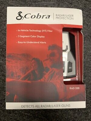 Cobra RAD350 Rad 350 Radar and Laser Detector Protection, New!