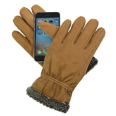 Isotoner A70099Z Men's Smartouch Touchscreen SmartDri Gloves Cognac X-Large
