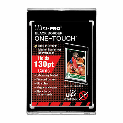 10 Ultra Pro One Touch Magnetic Card Holder 130pt Black Border with UV Prot