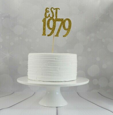 Tremendous Est In 1979 40Th Birthday Cake Topper Fortieth Birthday Decor Funny Birthday Cards Online Alyptdamsfinfo