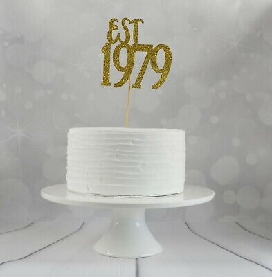 40th Birthday Cake Ideas.Est In 1979 40th Birthday Cake Topper Fortieth Birthday
