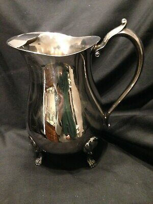 Water Pitcher/Leonard/Silver Plated/Footed/Ice Lip/Collectable
