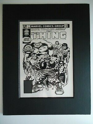 LAST ISS 1st APP. CHAMPION MARVEL TWO-IN-ONE # 7 RON WILSON COVER PRODUCTION ART