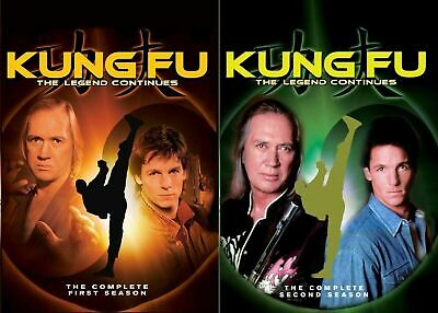 Kung Fu The Legend Continues TV Series Complete Seasons 1 & 2 DVD Set Colelction