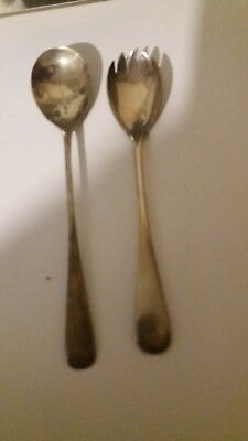 Antique Vintage Silver Plated EPNS Servers Salad Vegetables Table Ware Old