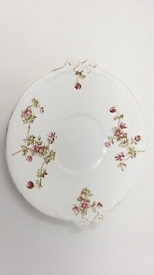 Antique Vintage Pink Floral Cake Plate Very Pretty 25Cm