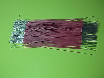 "120 ~ 7"" Pieces ~ 24 ga ~ Red Cloth Covered Wire ~ Bell System ~ NEW"