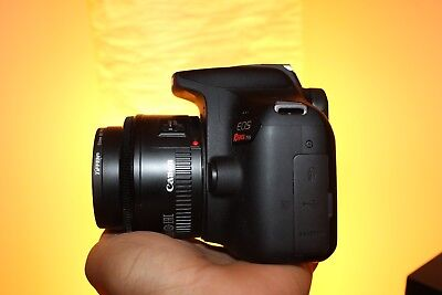 Canon EOS Rebel T6 DSLR Camera With 50mm 1.8mm Lens (2 LENSES). Freeshipping!
