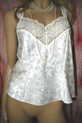 Silky Camisole St Michael Vintage Lacy Gloss Satin Cami Top Slip Top Lingerie
