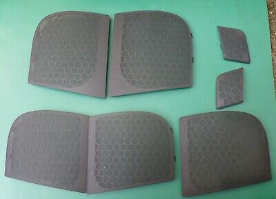AUDI A2 front & rear main speaker grille trim covers & 2 x tweeter covers